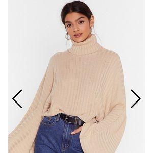 NastyGal oversized knit sweater NWT